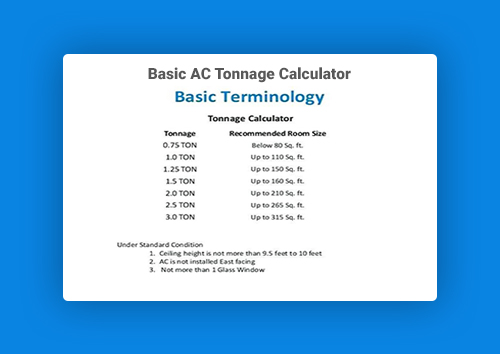 basic AC tonnage calculator